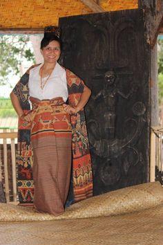 Kain tenun Sumba. Indonesia