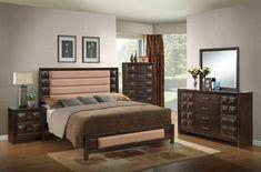 Sofia Coco Brown Master Bedroom Set