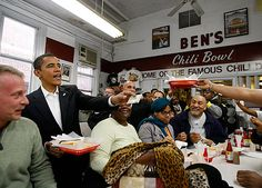 Ben's Chili Bowl, which has several locations around Washington, D.C., is among one of Obama's favorite restaurants in the district. | WaPo is doing a better job than @MrsObama in providing fodder for this board.