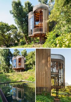 Architecture and interior design firm Malan Vorster, have designed the House Paarman Tree House in Cape Town, South Africa. Architecture and interior design firm Malan Vorster, have designed the House Paarman Tree House in Cape Town, South Africa. Modern Tree House, Simple Tree House, Modern House Design, Tree House Interior, Home Interior Design, Design Interiors, Architecture Design Concept, Modern Architecture, Casas Country