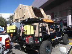 SEMA Jeep with a Cummins Diesel engine