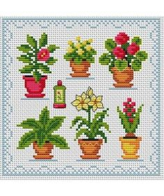 The house plants. Tons of FREE CROSS-SITCH PATTERNS at this site: just found a site that has really easy to download embroidery patterns for free. It's http://club-point-de-croix.com/?code_avantage=CWcplRsmji  Plus, if you click on this link, http://club-point-de-croix.com/?code_avantage=CWcplRsmji  , you'll automatically receive a gift when you subscribe. I use this site all the time; there are hundreds of all different types of patterns, and there are new patterns added everyday.