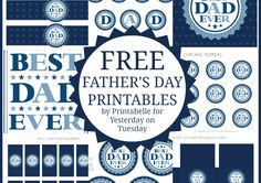 "Free Father's Day Printables for the ""Best Dad"" #freeprintables #fathersday"