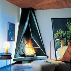 JC Bordelet Camilia 984 Corner Wood Burning Open Fire