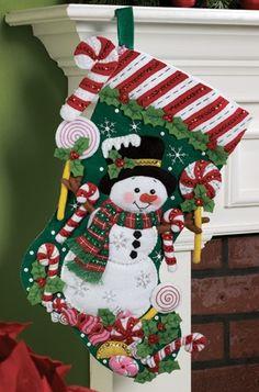 "18"" Felt Christmas Stocking - -"