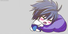 Chibi L. This position reminds me of how Pokemon characters look like when they sit down in Gameboy Color.