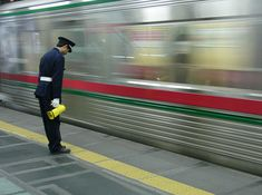 Japan. Receiving a polite bow from the station attendant as you pull out of the station. Yep.