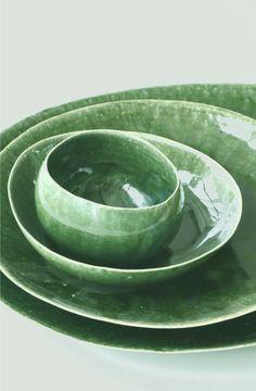 """Jurgen Lehl Pottery / """"Oribe"""" green"""