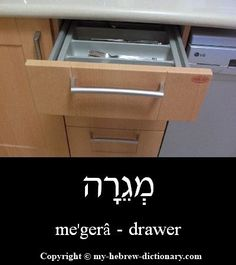 Drawer in Hebrew