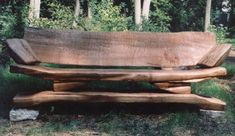 Beech Wood bench A single log cut and rearranged to utilise every part