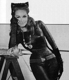 Julie Newmar - the original 'Cat Woman'  also famous for inventing panty hose!