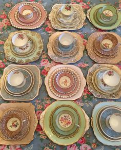 English vintage china, Bespoke, Mix and match tea set, mixed tea set, mix and match vintage, mix and match tea cups, unique