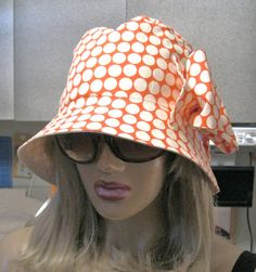 Womens Sun Garden Summer Beach Cloche Hat in by ruffledflamingo, $15.00