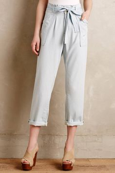 Chambray Paperbag Trousers by Current/Elliott #anthrofave #anthropologie