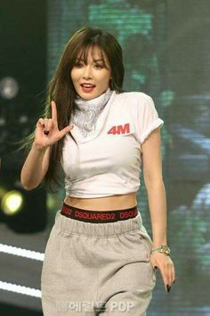 """Hyuna during """"Hate""""performance"""