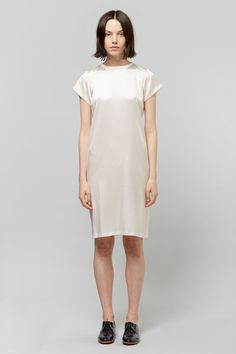 Jasmin Shokrian   Simple Silk Tee Dress   My Chameleon