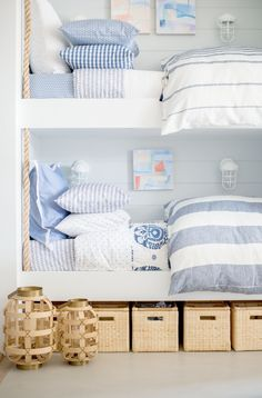Seeing double. The most darling bunk bed set courtesy of Serena & Lily's Newport Beach Design Shop.