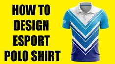 How to design Esport Polo Shirt Fashion Flats, Fashion Outfits, Shirt Mockup, Professional Logo, Polo Shirt, T Shirt, Apparel Design, Design Tutorials, 3 D