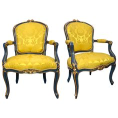 Pair of Venitian Armchairs | From a unique collection of antique and modern armchairs at http://www.1stdibs.com/furniture/seating/armchairs/