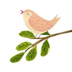 A singing bird! #illustratorsofinstagram #birdsofinstagram