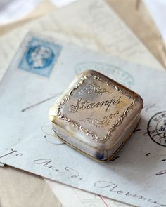 Antique Silver Plated Victorian Stamp Box by graceandivy on Etsy, via Etsy. Old Letters, You've Got Mail, Handwritten Letters, Vintage Lettering, Letter Writing, Mail Art, Antique Silver, Antique Desk, Girly Girl