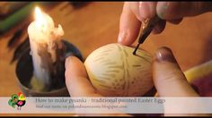 How to make pisanki with wax by Poland Is Awesome. A simple tutorial on making pisanki- wax and dye decorated Easter eggs.