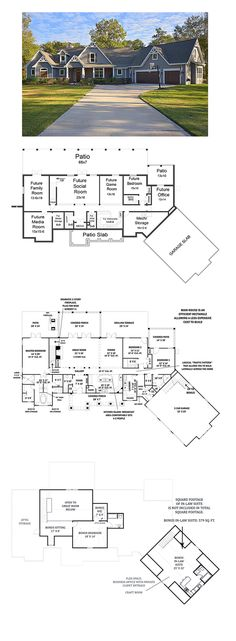 Craftsman House Plan 98267 | Total Living Area: 2498 sq. ft., 3 bedrooms and 3.5 bathrooms. #craftsmanhome