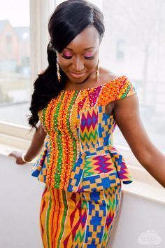 Kente Fabric Designs: See These Kente Styles For Fashionable Ladies - Lab Africa African Fashion Ankara, Latest African Fashion Dresses, African Print Fashion, Africa Fashion, Women's Fashion, Fashion Ideas, African Attire, African Wear, African Women
