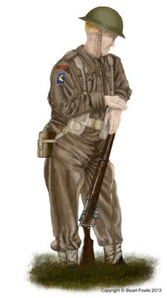 British infantry 1944, pin by Paolo Marzioli