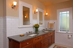 Impressive Lowes Medicine Cabinets fashion Minneapolis Craftsman Bathroom Innovative Designs with dark stained wood double