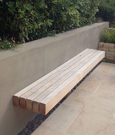 Floating bench / rendered wall michellebrandon.co.uk #ummauertergarten Floating bench / rendered wall michellebrandon.co.uk