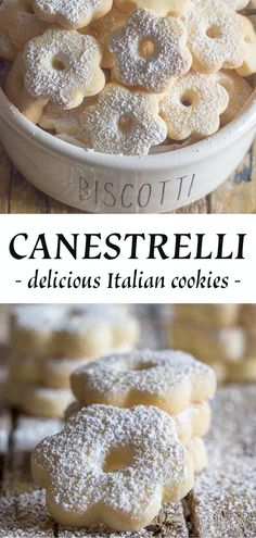 Canestrelli Delicious Italian Cookie - Recipes Instant Canestrelli a wonderfully delicious Italian Cookie, an almost shortbread type cookie but with a crunch, fast and easy. The perfect afternoon. Italian Cookie Recipes, Italian Cookies, Easy Cookie Recipes, Easy Italian Desserts, Italian Biscuits, Simple Cookie Recipe, Italian Christmas Cookies, Italian Cake, Dutch Recipes