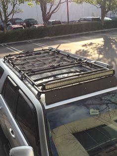 5th Gen Toyota 4Runner Raingler roof rack net for Gobi Baja Desert style overland MILSPEC cargo nets