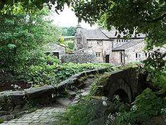 lovely stone bridge and house