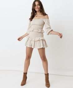 It's Officially Time for me to Invest in More of these Gypsy Style, Bohemian Style, Mini Slip Dress, Flowy Skirt, Tie Blouse, Lace Romper, Off Shoulder Tops, White Outfits, Mini Skirts