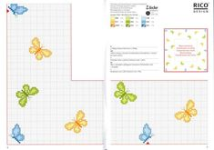 Schema punto croce Farfalline