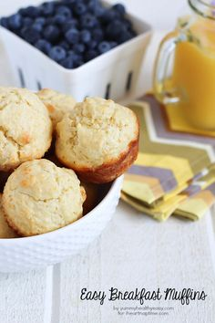 Easy Breakfast Muffins -made with only a few ingredients and use only one bowl and spoon!