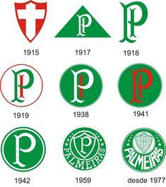 La evolución de escudo de Sociedade Esportiva Palmeiras - Brasil                                                                                                                                                                                 Mais