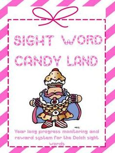 Sight Word Candy Land Dolch Version
