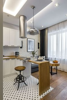 30 Latest Small Apartment Kitchen Decor Ideas To Copy - Decoration Tips Modern Small Apartment Design, Small Apartment Kitchen, Small Apartment Decorating, Small Apartments, Apartment Living, Studio Apartments, Bedroom Apartment, Small Apartment Plans, Lovely Apartments