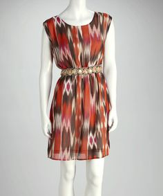 Take a look at this Orange & Black Belt Dress by Madison Paige on #zulily today! $19.99, regular 79.00