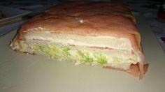 Pastel de salmón.