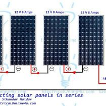 the complete method of connecting solar panels in series with wiring rh pinterest com RV Battery Wiring Diagram RV Solar Panel Wiring Diagram