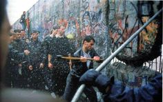 Berlin Wall is torn down in 1989 after 38 years of separation of the East and West sides of the German City. Many civilians took hammers to the wall to tear away the terror of the pass.