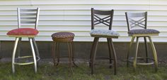Indoor and outdoor barstools for sale at the Renovisions Showroom. Your choice of style, color and fabric!