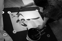 Drawing BU-SHI | Big brush calligraphy - 2212 Ted, Calligraphy, Tote Bag, Drawings, Bags, Handbags, Lettering, Totes, Sketches