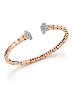 5,500.00$  Buy here - http://vihez.justgood.pw/vig/item.php?t=13quzfz3973 - Roberto Coin 18K White and Rose Gold Pois Moi Chiodo Bangle with Diamonds - 100% Exclusive 5,500.00$