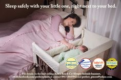 Keep your baby at arms reach during the night