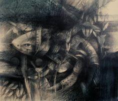 """Jesús Ovalles, """"Reminiscencias del Mar"""", Galeria de Arte Bahía Redonda(Grafito sobre lienzo"""""""