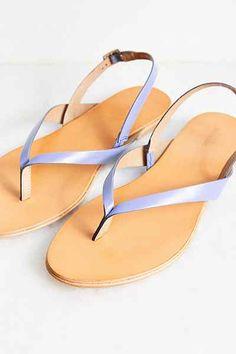 Mabel Leather Thong Slingback Sandal